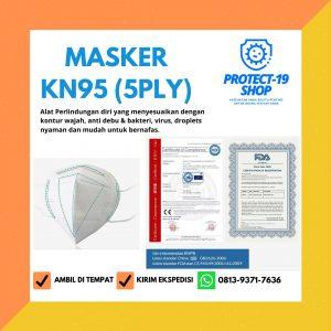 Masker Kesehatan KN95 (5Ply) dengan 5 lapisan setara dengan N95, cocok untuk tenaga kesehatan